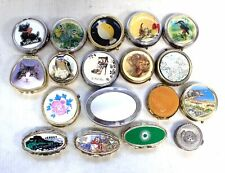 Collection of x19 Assorted Metalware/Brass Vintage Trinket & Pill Boxes  - BA2