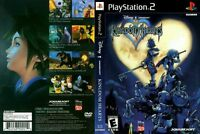Kingdom Hearts Sony PlayStation 2 PS2 COMPLETE BLACK LABEL Case Manual Game Disc