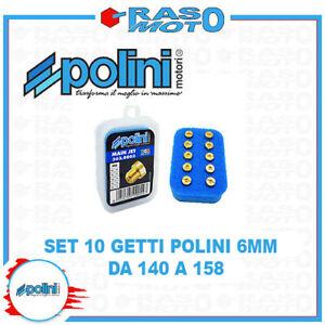 Kit 10 Getti Massimo Polini 6 Mm Tipo Grosso da 140 a 158 Carburatori VHST
