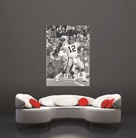 Terry Bradshaw American Football Sport B&W Photography Giant Poster