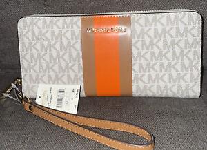 Michael Kors Signature Jet Set Travel Continental Wallet*Clementine*MSRP$178.00