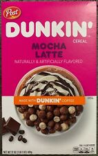 NEW POST DUNKIN' MOCHA LATTE CEREAL 17 OZ (481g) BOX MADE WITH DUNKIN COFFEE BUY