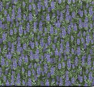QUILTING, CRAFTWORK, GENERAL SEWING FABRIC X 1 METRE IN TWO PIECES..LAVENDER DES