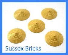 LEGO 5x Tan CONICO Asiatico Cinese Cappello di paglia CONTADINO minifigura Ninjago PEZZI NUOVI