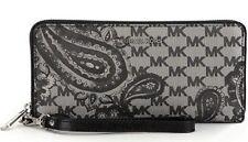 New MICHAEL KORS STUDIO Daniela Large Paisley Wristlet Swirls heritage Wallet