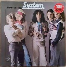 1975 KRAUT/PROG ROCK - SYSTEM - WHAT WE ARE - LP GERMANY NOVA 622230