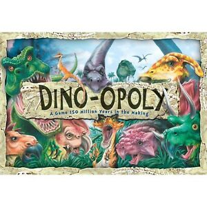 Dinosaurs Monopoly DinoOpoly Board Game Late for the Sky Triceratops Stegosaurus