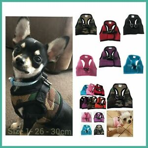XXXS XXS XS Small Puppy Dog Harness Clip Coat Chihuahua Teacup Dog Kitten Pet