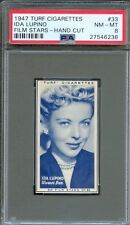 1947 TURF Cigarettes Card #33 IDA LUPINO The Hard Way HIGH SIERRA Actress PSA 8