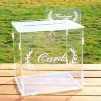 Wedding Card Box Clear Card Boxes with Lock Gift Card Box Money Box Holder Decor