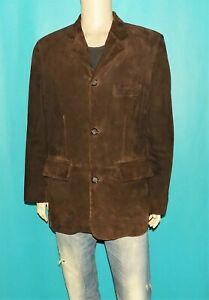 MAC DOUGLAS veste blazer en daim marron made France taille M