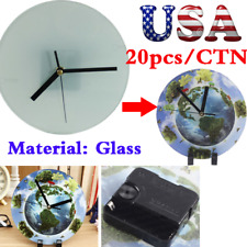 Usa 20pcs Sublimation Blank Glass Photo Picture Frame With Glossy Round Clock
