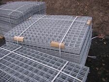 1 NEW GALVANISED STEEL MESH PANEL APPROX 54ins X 21ins SQUARE WITH 3INS HOLES