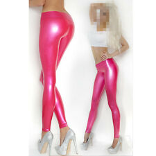 Sexy  Pink Latex Women Pants Rubber Legging Jeans Gummi 0.4mm Party Wear