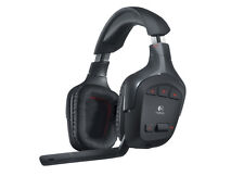 New Logitech Wireless Gaming Headset G930 with 7.1 Surround Sound (Black)