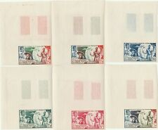 Postage Stamps French Colonies IMPERFORATE PROOFS SET (12 Proofs) Scarce Items