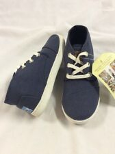 TOMS Kids Youth Paseo Mid, Navy Canvas, Size 1.5
