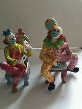 Clown Bookends made from porcelain