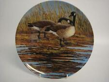 BRADEX DOMINION CHINA CANADA GEESE COURTSHIP FROM WINGS UPON THE WILD PLATE