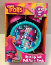 NEW TROLLS Light Up Alarm Clock POPPY COOPER DREAMWORKS Room Decor Figure