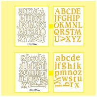 Scrapbooking Alphabet Metal Cutting Dies DIY Stencil Letters For Art & Crafts