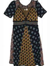 Anthropologie MOTH Hullabaloo Sweaterdress Intarsia  Sweater Dress S NWT