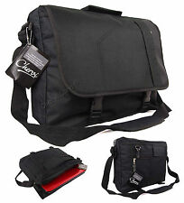 New Black Messenger Satchel Briefcase Travel Work College School Shoulder Bag