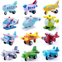 Mini Wooden Aircraft Airplane Educational HandMade Toys Baby Kids Children LJ