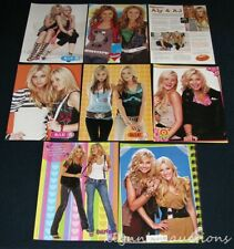 Aly and AJ Clippings 6 sets 47 Full page Magazine Pinup Article Lot G424