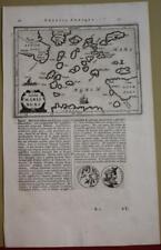 GREEK AEGEAN ISLANDS & ATTICA GREECE 1661 LAUREMBERG ANTIQUE ORIGINAL MAP