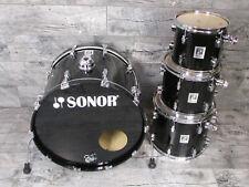 Sonor Force 3001 Shellset 22,10,12,14 Piano Black Laquer Schlagzeug Drum