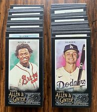 2020 Topps Allen & Ginter X Mini #1-350 Black Border Online Exclusive - You Pick