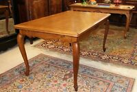 French Antique Louis XV Oak Draw Leaf Table / Dining Room Furniture