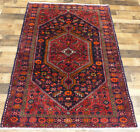"""4'5""""X6'8"""" Handmade wool Authentic Vintage Traditional Malayer Oriental area rug"""