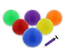"""Get Out!™ 8.5"""" Inch Rubber Playground Four Square Balls 6-Pack with Hand Pump"""