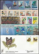 NEW ZEALAND LIMITED EDITION FDC's (x5) 1995-1999 (ID:014/D40276)