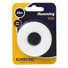 20m Hemming Web Tape Iron on Fabric Fabrics No Sewing Sew Free Care & Repair