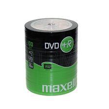 100 Maxell DVD+R 4.7GB (16x) 120Min DVDR In Shrink Wrap DVD+R