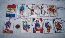10~Vintage~4th of July~Patriotic~Ellen Clapsaddle~Linen Cardstock~Gift~Hang~Tags