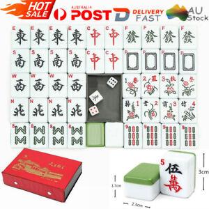 Heavy Duty 144 Tiles Traditional Mah-Jong Set Portable Chinese Mahjong Rare Game