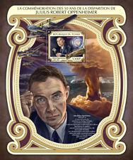 Chad 2017 MNH J. Robert Oppenheimer 50th Mem 1v S/S WW2 WWII Enola Gay Stamps