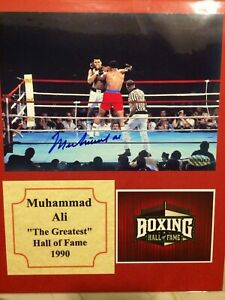 FALL SPECIAL Muhammad Ali Autograph 5x7 matted to 8x10 Color Photo w/coa