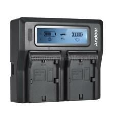 Andoer LP-E6 LP-E6N Dual Channel Digital Camera Battery Charger w/ LCD M9Q1