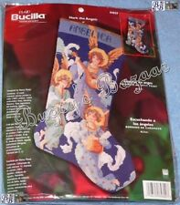 Bucilla HARK THE ANGELS Needlepoint Stocking Christmas Kit - Nancy Rossi - 84829