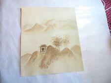 ROSE MARIE DE WOUTERS – aquarelle – maisonnette dans montagnes – 12/12/91      L