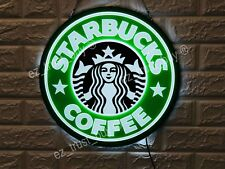 "New Starbucks Coffee Cafe Open Bar Lamp Decor Led 3D Neon Sign 16"" Light Windows"