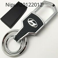 New HYUNDAI High Quality Heavy Chrome Metal Car Logo Keyring Key Fob Keychain
