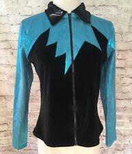 Dreamlight Activewear gymnastics warm up jacket Black Turquoise Adult XS NWT