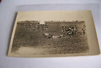 Rare Antique Vintage RPPC Real Photo Postcard World War I Soldiers Cousin Tommy