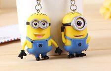 Despicable Me Minion Toy Rubber Key Chain 3D Eyes 2 PCS 2015